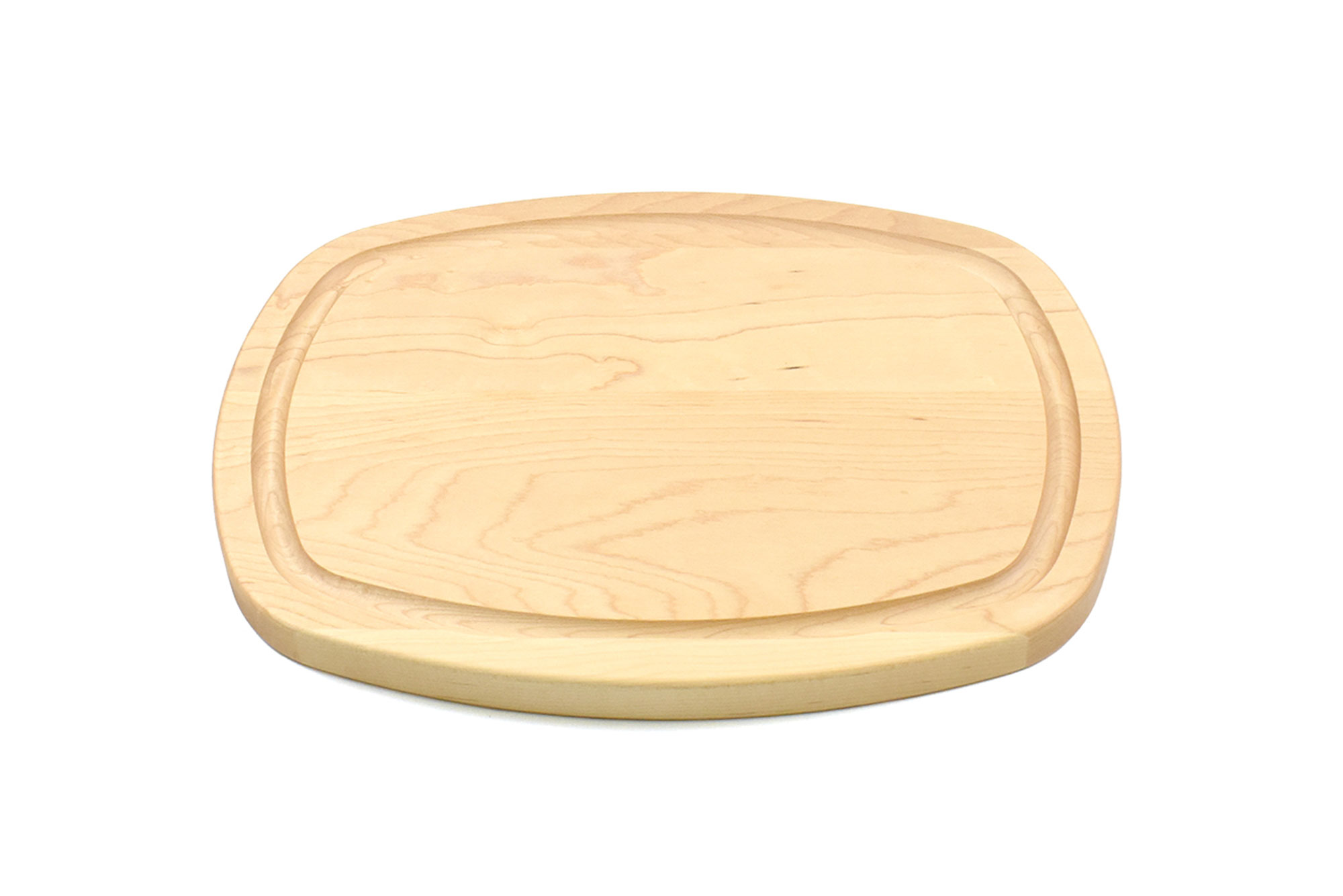 Oval Cutting Board with Juice Groove