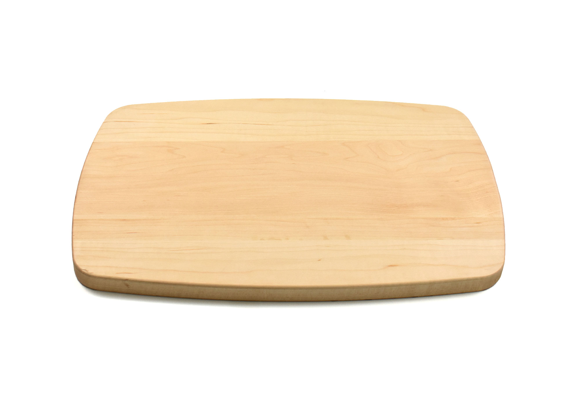 Maple large rectangular curved cutting board with rounded corners