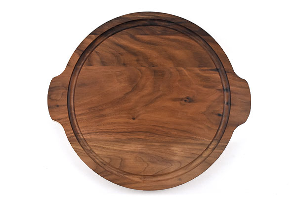 Round Cutting Board with handles & Juice Groove