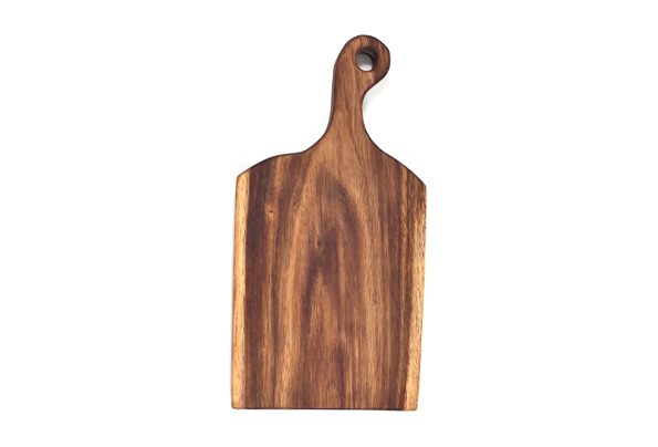 Exotic Indonisain Live Edge Walnut wood cutting/serving board with curved 4 1/2