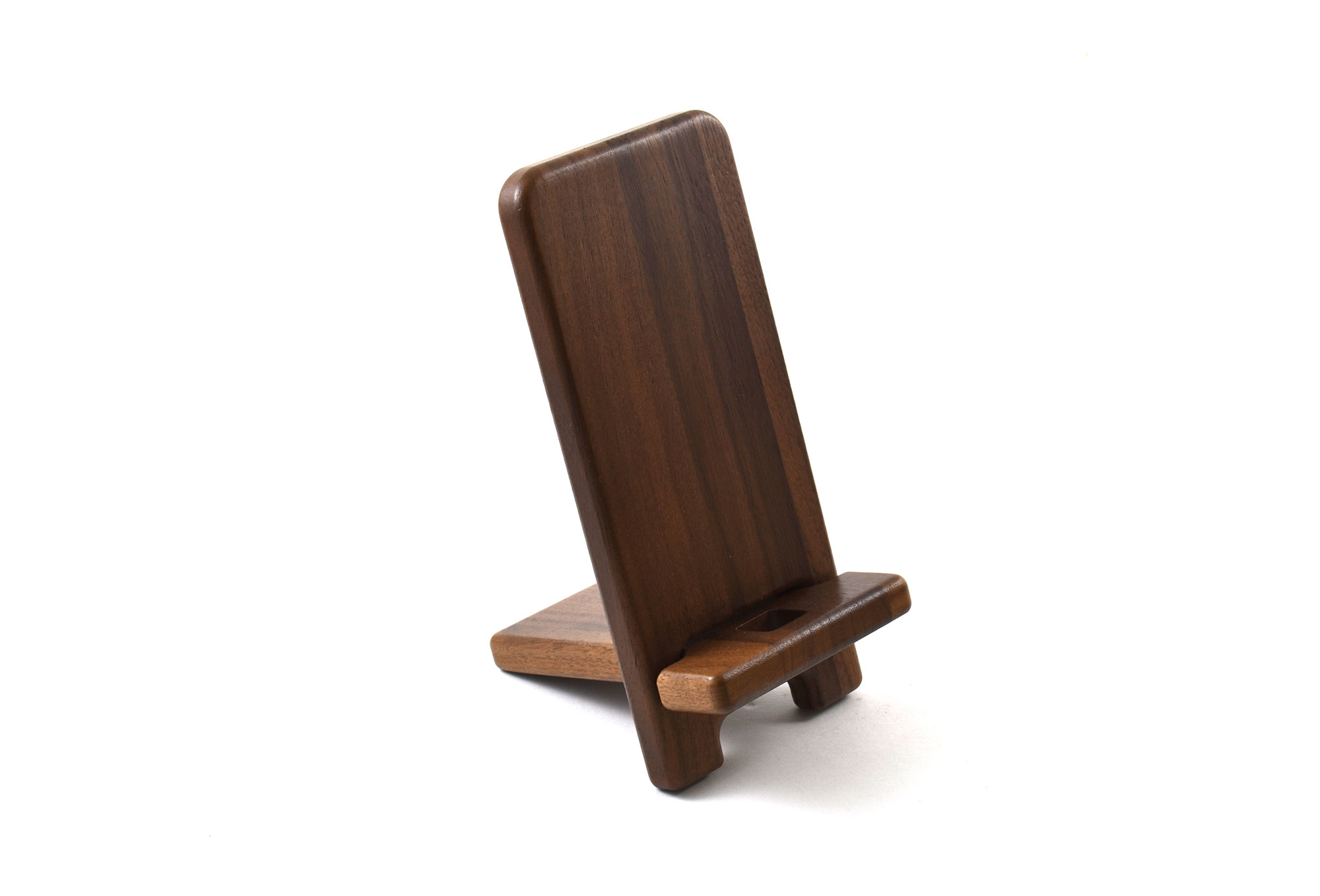 Walnut Mobile phone stand