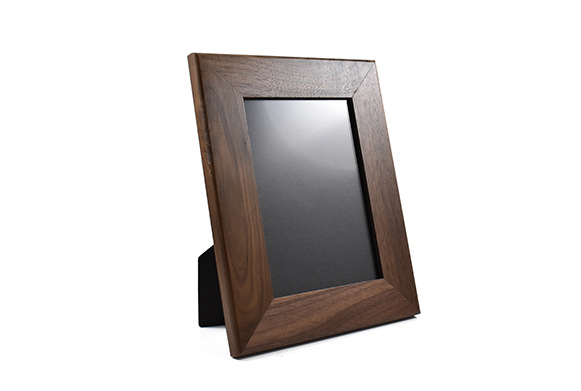 Solid walnut wood picture frame for 5