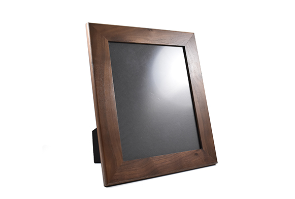 Solid walnut wood picture frame for 8
