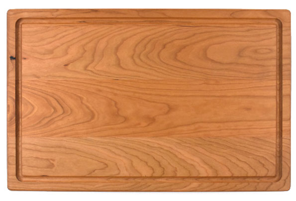 Cutting board with rounded edges & juice groove