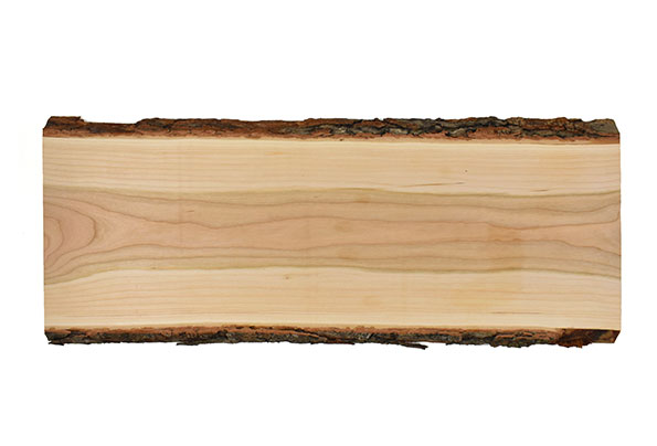 Live edge rectangular wood serving board