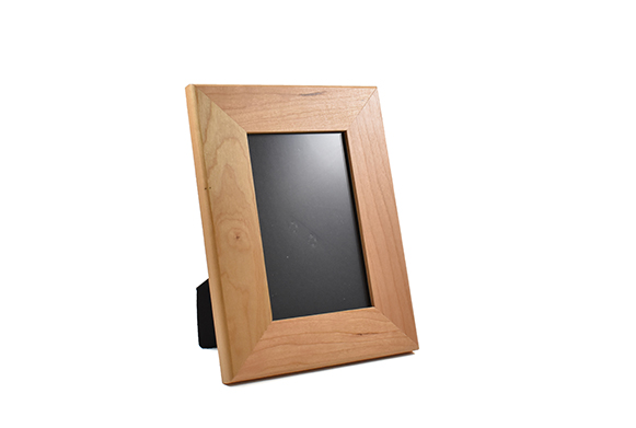 Solid cherry wood picture frame for 4