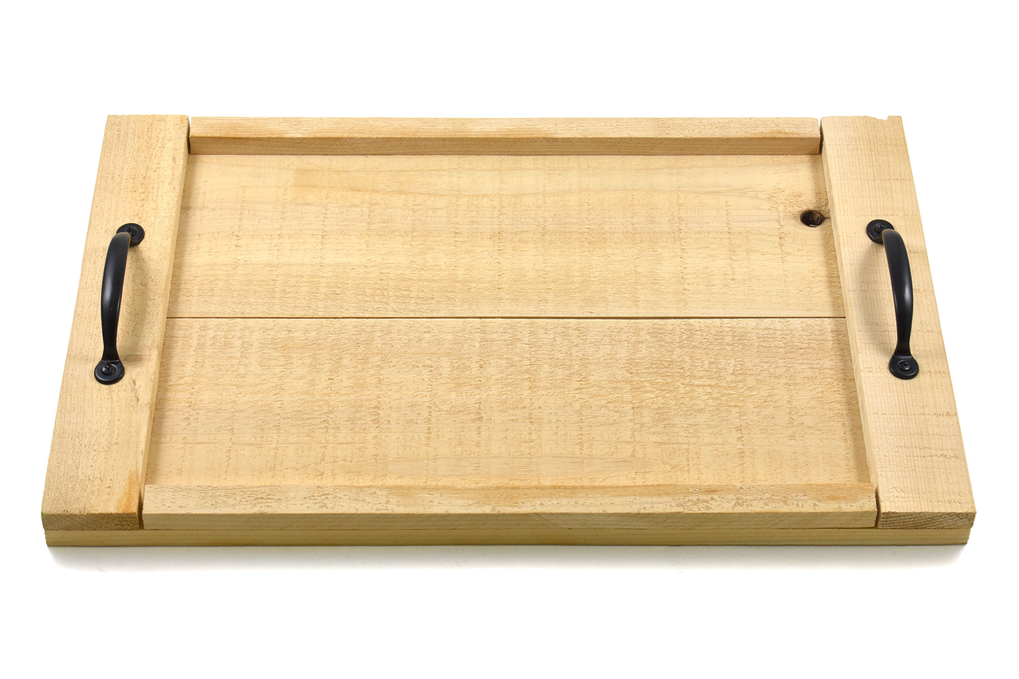 Rustic cedar wood serving tray