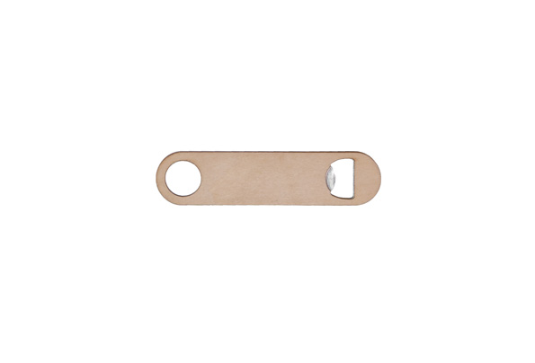 Maple wood & metal bottle opener
