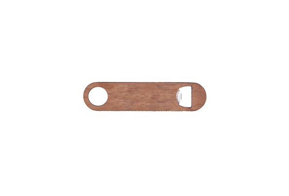 Cherry wood & metal bottle opener