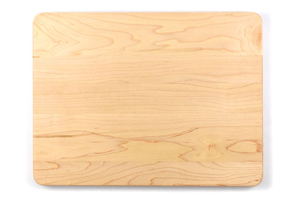 Cutting board with rounded corners
