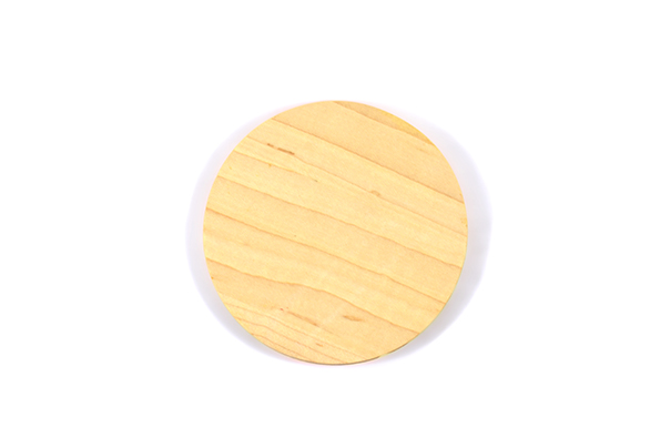 Maple circle coasters