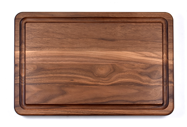 Walnut flat grain butcher board with juice groove 1 1/4