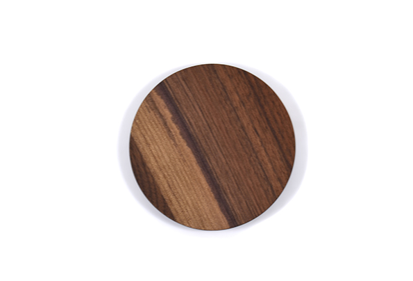 Walnut circle coasters