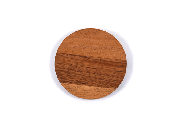 Mahogany circle coasters