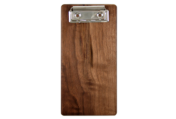 Solid Walnut Check Presenter with Nickel Clip
