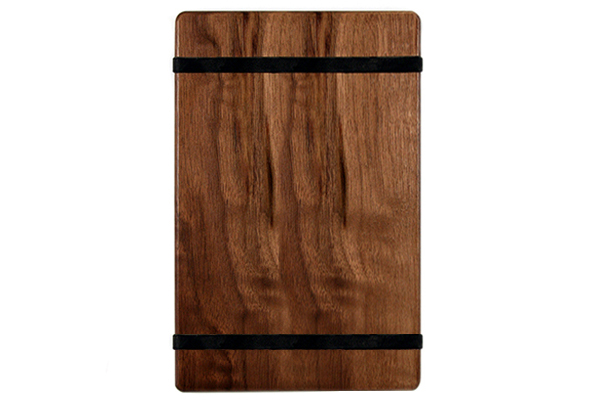 Solid Walnut Menu Board with 2 Latex Free Rubber Bands