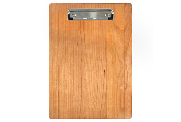 Solid Cherry Menu Board with Nickel Clip