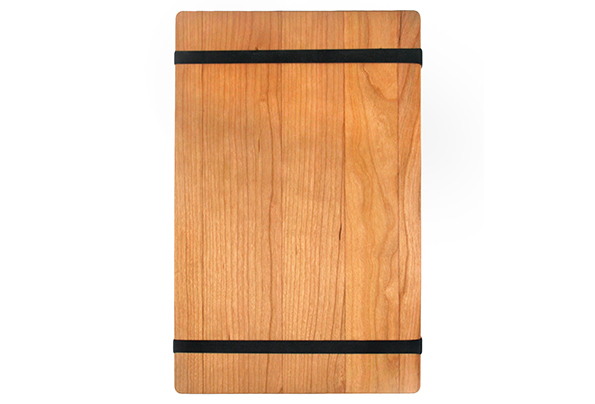 Solid Cherry Menu Board with 2 Latex Free Rubber Bands