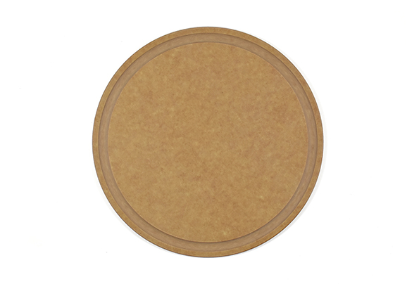 Round 10 1/2 inch cutting board with juice groove (Dishwasher safe)
