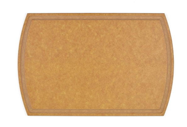 Large wood fiber cutting board with juice groove (Dishwasher safe)