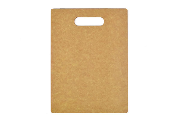 Small handle wood fiber board rounded corners & edges (Dishwasher safe)