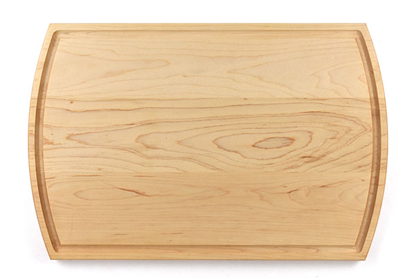Large wood cutting board with juice groove