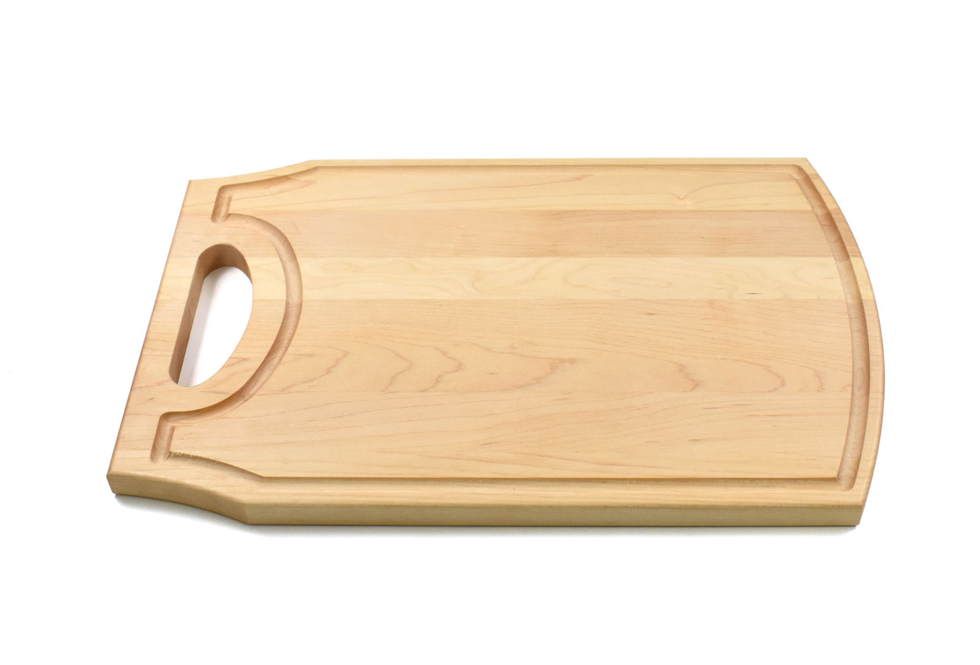 Wood Cutting Board with Handle and Juice Groove