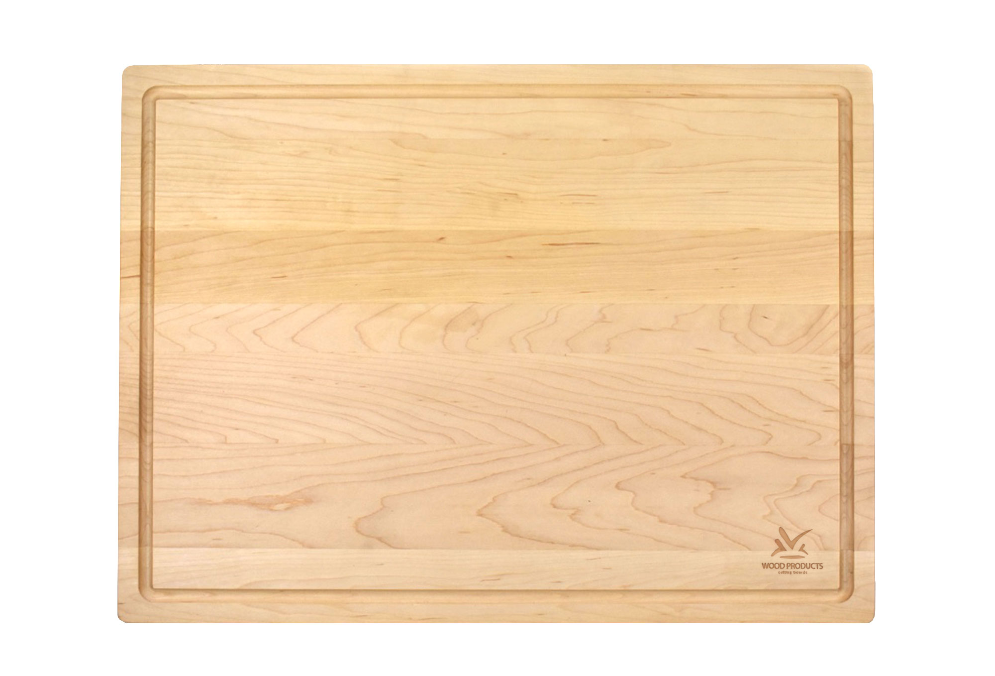 LARGE 1 3/4 INCH MAPLE BUTCHER BLOCK WITH JUICE GROOVE Engraved