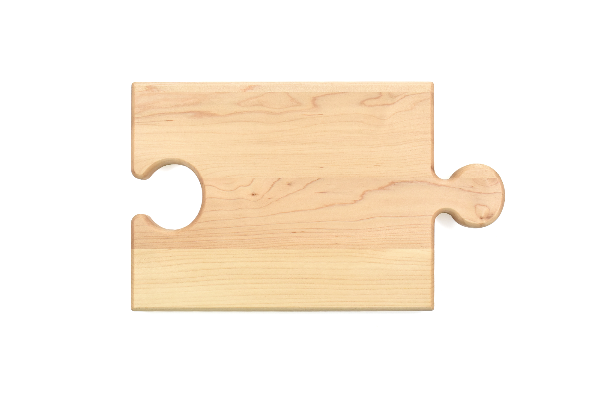 Puzzle piece cutting-serving board