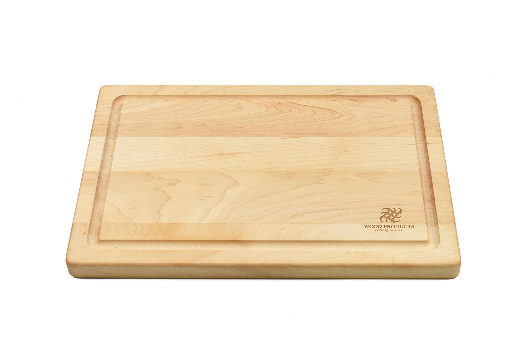 Maple small board with rounded edges and juice groove with Engraving