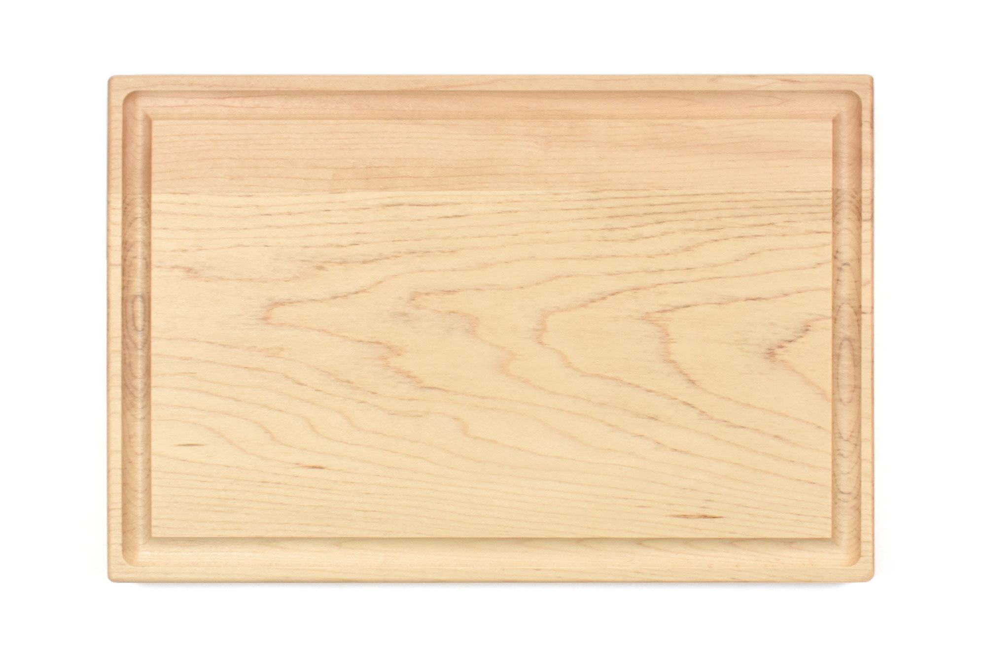 Maple small board with rounded edges and juice groove