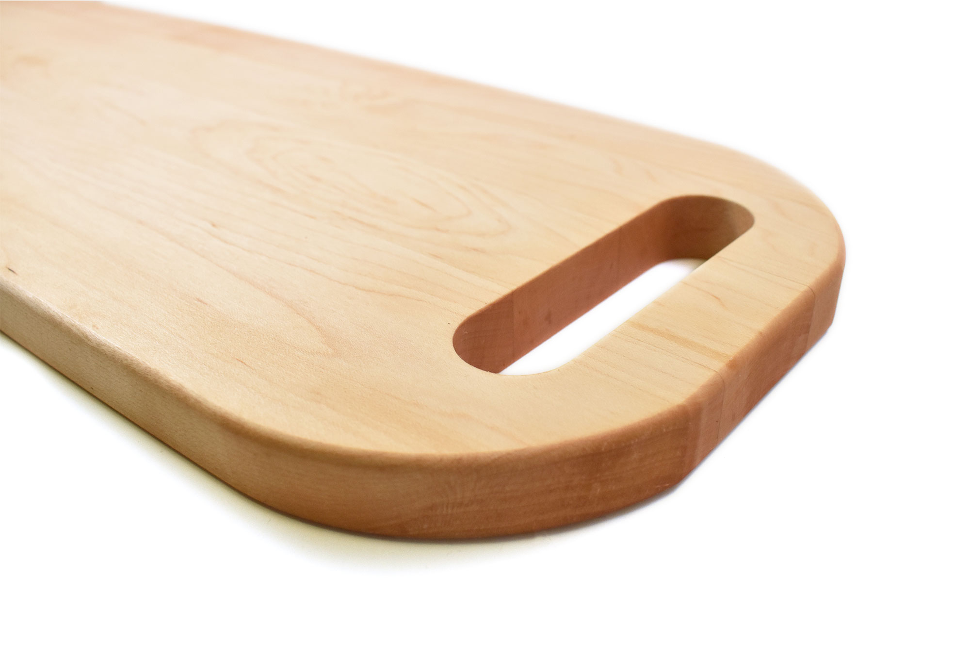Maple serving tray with handles on both ends