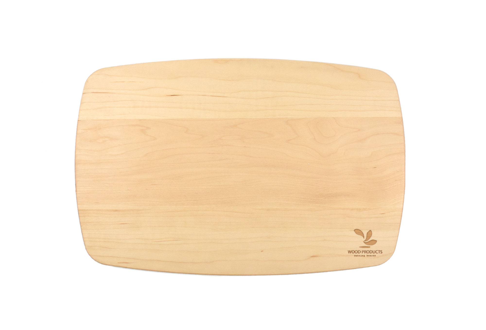 Maple large rectangular curved cutting board with rounded corners Engraved