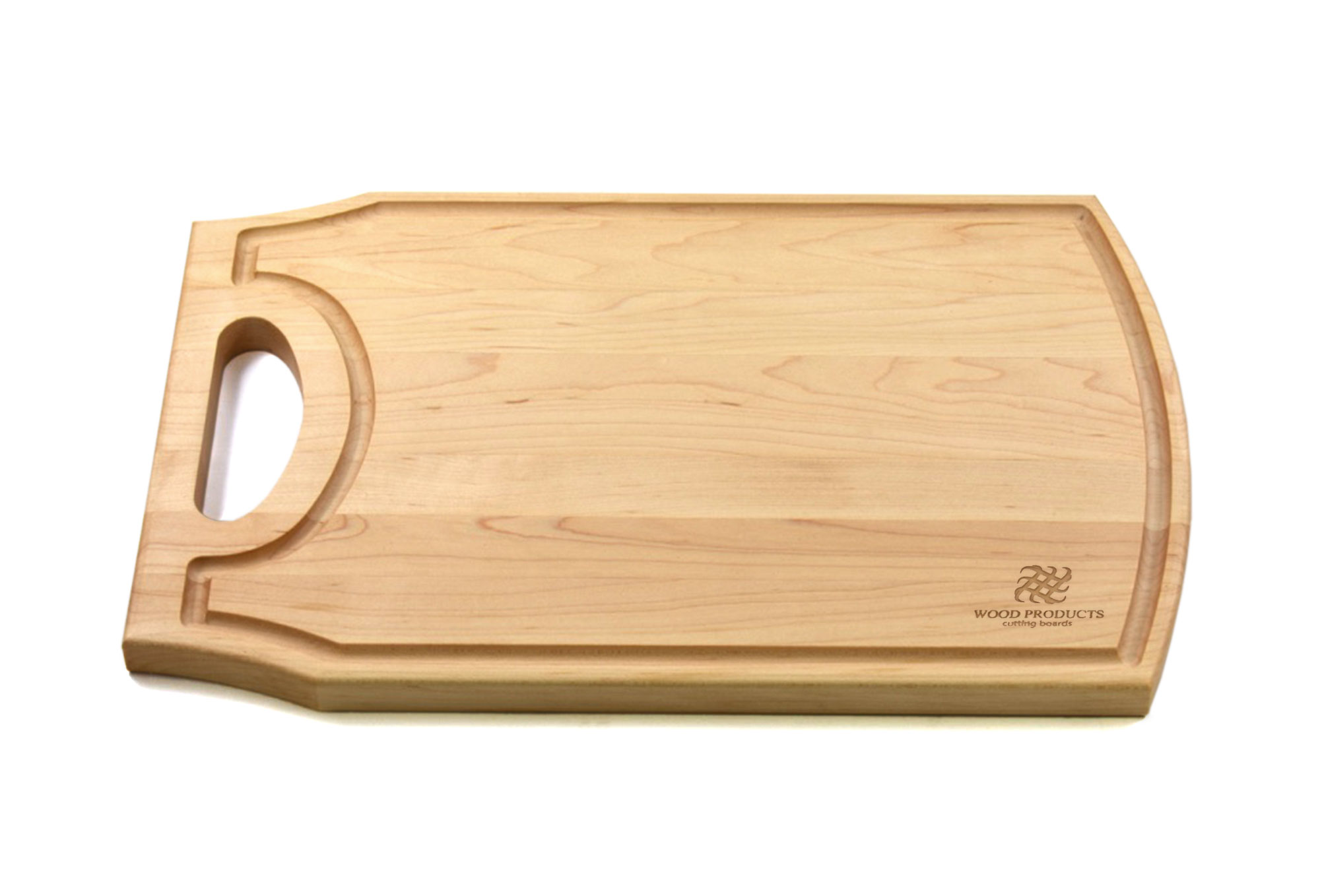 Large wooden cutting board with handle Engraved