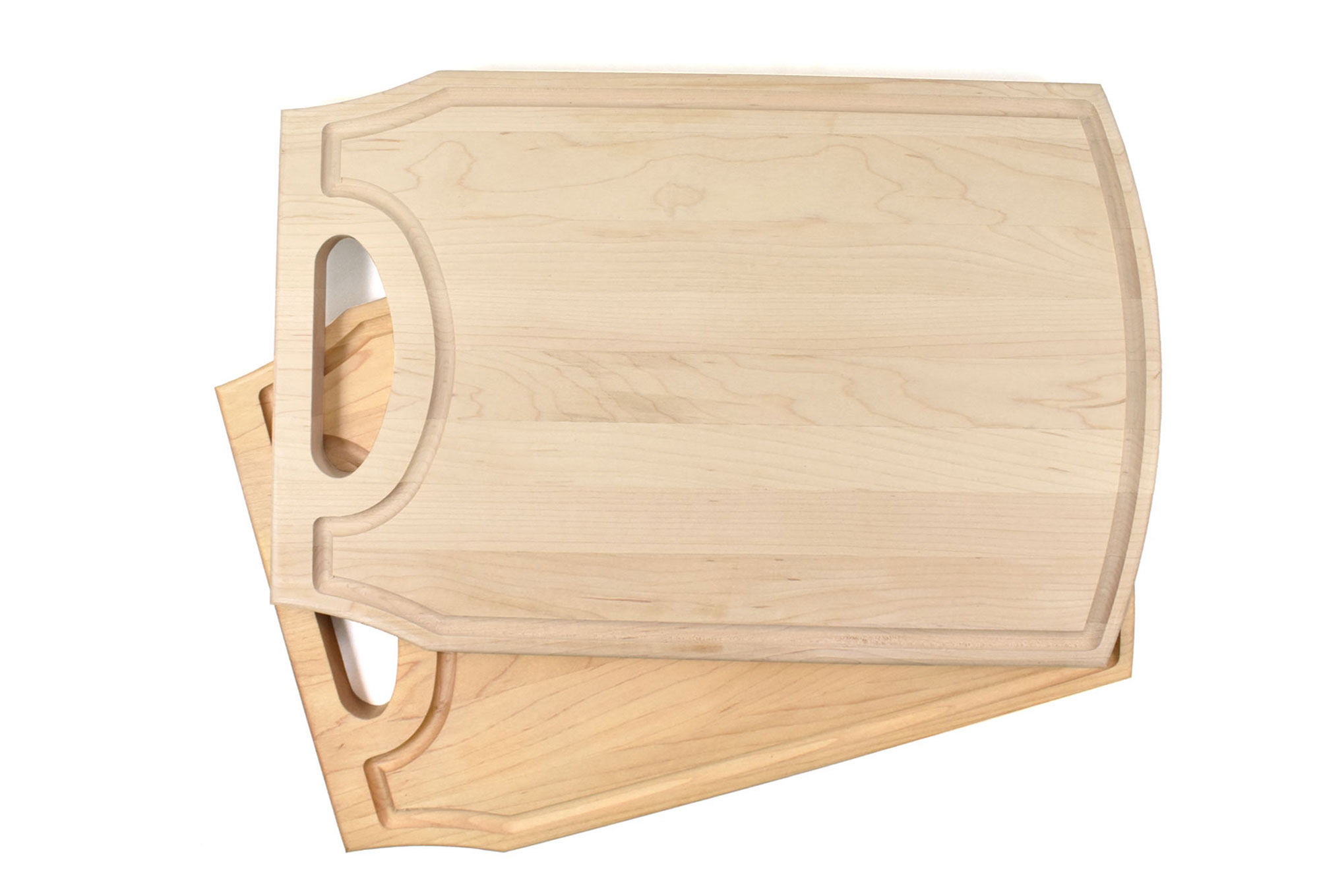 Large wooden cutting board with handle