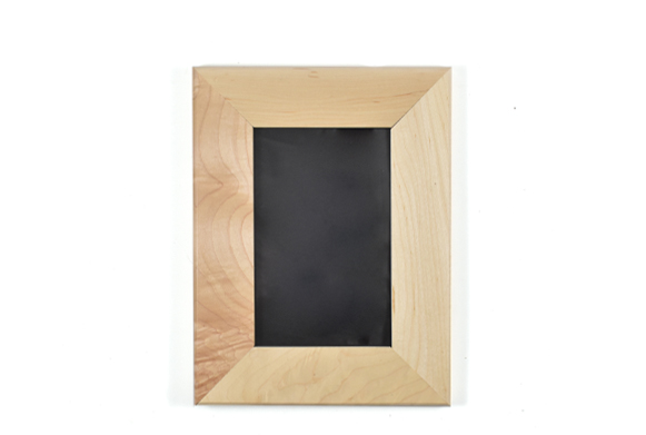 Solid maple wood picture frame for 4