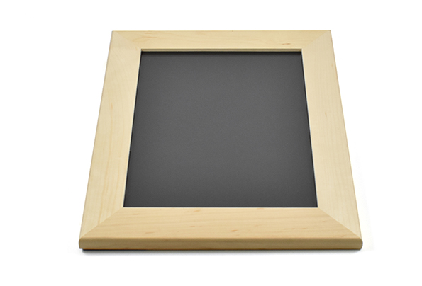 Solid maple wood picture frame for 8