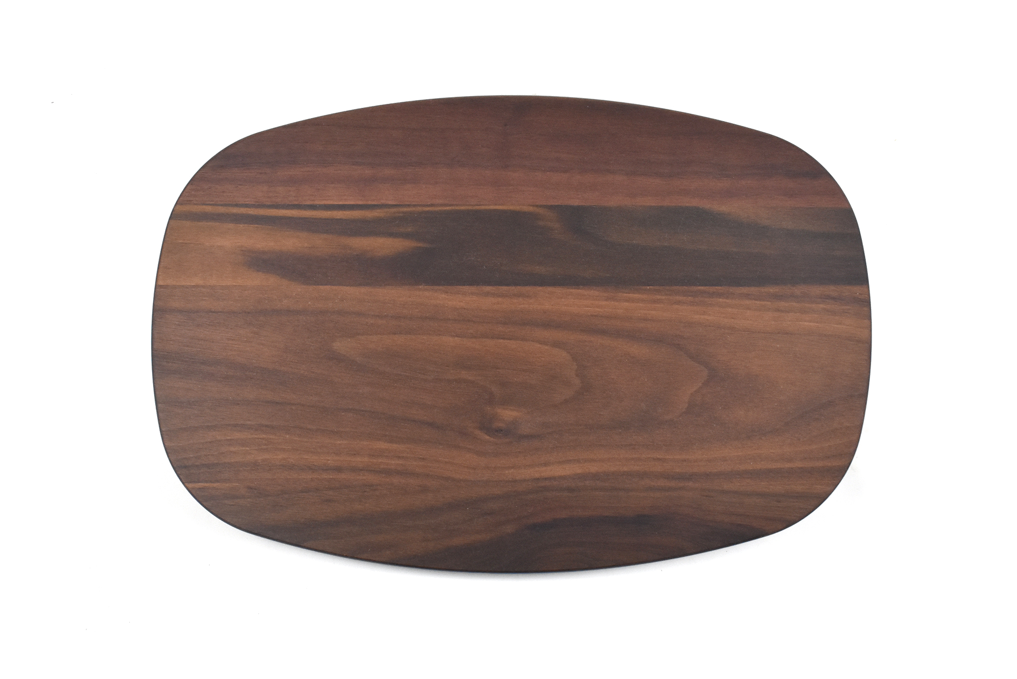 Large oval shape cutting board with juice groove
