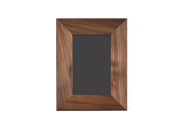 Solid walnut wood picture frame for 4