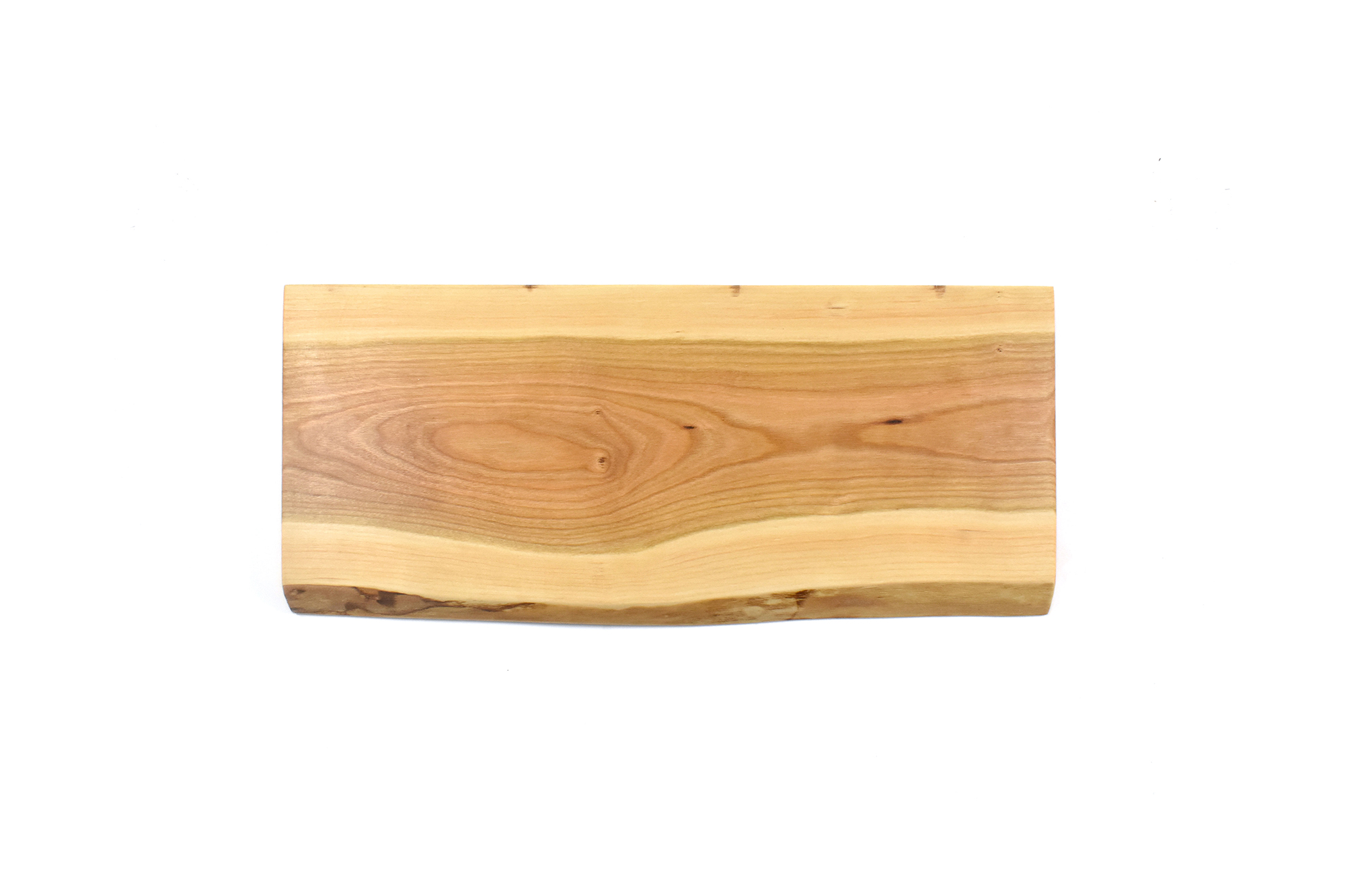 Small live edge rectangular wood serving board