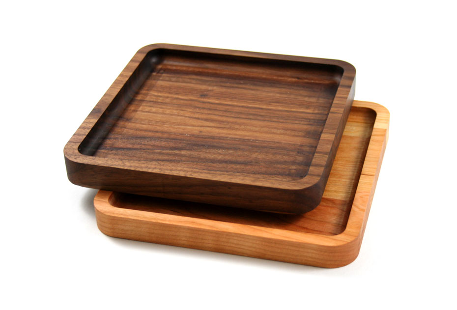 Walnut and Cherry Wood Trays