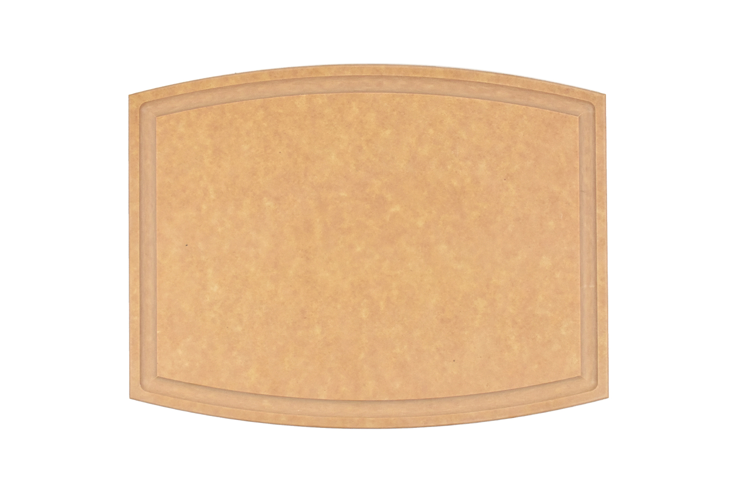 Arched cutting board with juice groove (Dishwasher safe)