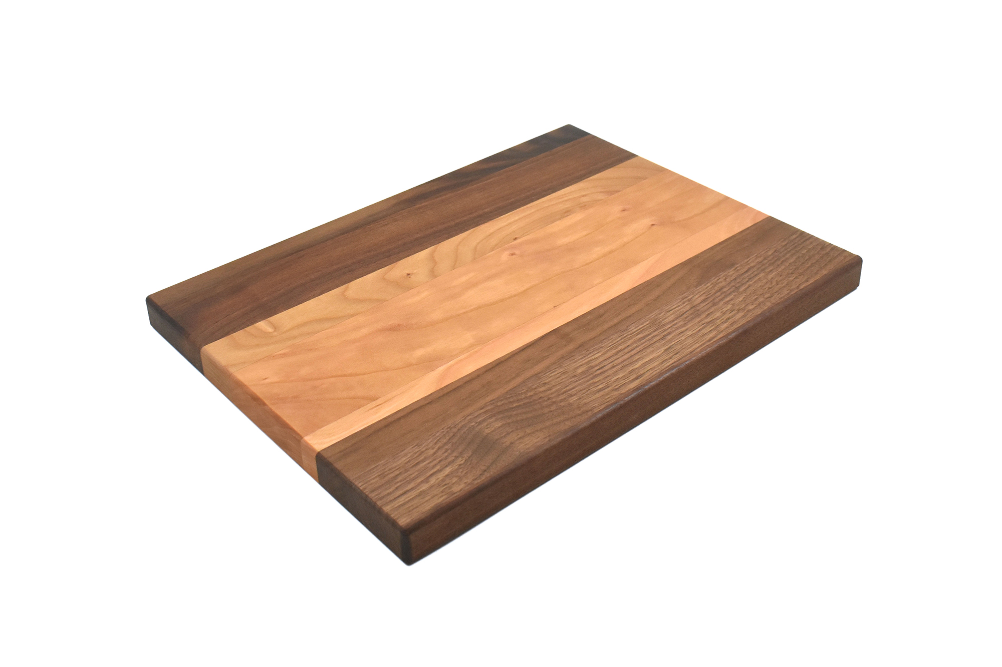 Multi wood species cutting board - Walnut wood ends with Cherry wood in the middle