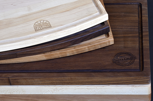 Approaching a business, Selling branded products, Branding products, Wholesale cutting boards