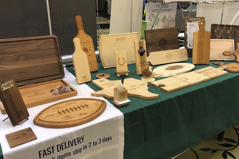 wholesale cutting boards, ppai tradeshows, asi tradeshow, pppc trade show, high quality hardwood cutting boards